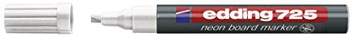 Edding 4-725-5 Neon Board Marker 725 nachfüllbar, 2 - 5 mm Neon-plakate