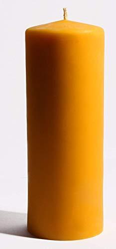 XXL Kerze aus 100% Bienenwachs 24 x 8 cm Bienenwachskerze, handgemacht, direkt vom Imker aus Deutschland, Bayern, von der Bienenbude