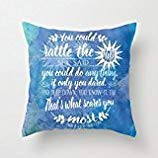 vintage cap Throne of Glass by Sarah J. Maas Book Quote 18x 18 inch Cotton Linen Decorative Pillow Case Throw Pillow.