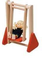 Rülke Holzspielzeug 22001 - Columpio con muñeca para casa de muñecas