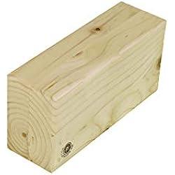 Bloque de madera para Yoga, regular, barnizado, medidas originales de Iyengar para Yoga, 8x24x12, versátil de madera de pino