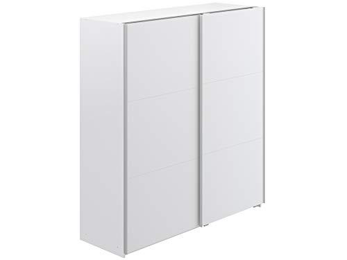 Marque Amazon -Movian - Armoire 2portes coulissantes Kolva Modern, 61 x 180 x 197, Blanc