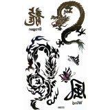 Stammes Drachen Temporäres Tattoo (Drache Temporäre Tattoo)