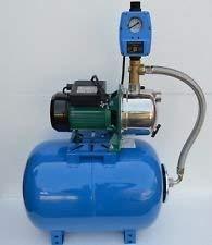 50 L Hauswasserwerk Pumpe 1,1 kW Gartenpumpe mit Trockenlaufschutz. thumbnail