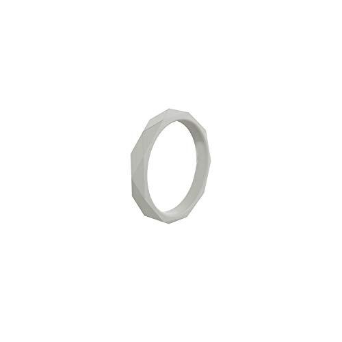Tiamo Violet Silikon Ring Rautenmuster hypoallergen Sports Food Grade Gummifingerringe für Frauen Wedding Band, 4,4 (Passende Kreuz Eheringe)