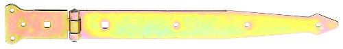 GAH-Alberts 315399 Werfgehänge, mit vernietetem Stift, galvanisch gelb verzinkt, Band: 400 x 45 mm, Scharnier: 101 x 63 mm