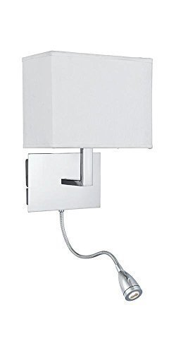 Onepre bedside wall lightpolished chrome wall lamp with flexible onepre bedside wall lightpolished chrome wall lamp with flexible led reading light white aloadofball Gallery