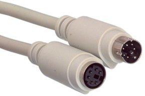 Guilty Gadgets - 3 M 3 Meter Meter PS2 Maus Verlängerungskabel 6 pin M-F Tastatur - M/f Ps2-verlängerungskabel
