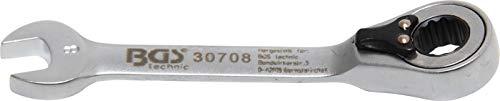 Bgs Clé mixte à cliquet, courte, 8 mm, 1 pièce, Central