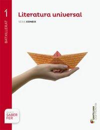 LITERATURA UNIVERSAL SÈRIE CONEIX 1 BTX SABER FER - 9788490472262