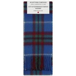 City of Edinburgh Modern Tartan Clan Fashion Scarf 100% Lambswool Made in Scotland Tartan Lambswool Scarf