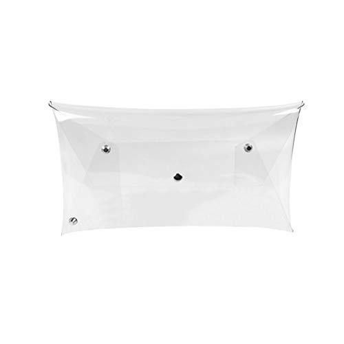 Fenical Frauen Transparente Umschlag Jelly Bag Clutch Elegante Abendgesellschaft Hochzeit Clutch Geldbörse Brieftasche Handtasche (Transparent) -