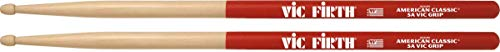 Vic Firth 5A American Hickory Vic Grip Wood Tip Drumsticks
