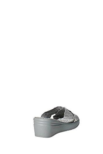Grunland CI1181-B6 Mules Femme Tissu Gris - Argento