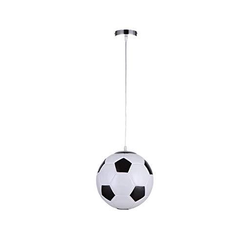 Belupai - Lámpara de techo colgante con forma de balón de baloncesto, vidrio, fútbol, 10x120cm