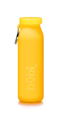 Registerkarte Flasche (bübi bottle - Silikon Multifunktions Trinkflasche 650 ml. Citrus / Zitronengelb)