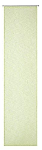 Deko trends franca 66tenda a pannello con binario di scorrimento in alluminio e contrappeso, poliestere, verde mela, 245x 60cm
