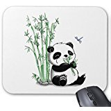 Generic Personalized Art Design Panda Eating Bamboo Mouse Pad