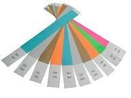 20Stück verschiedene Farben Tyvek Puppy ID Bands