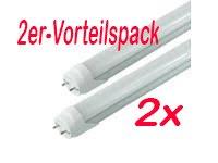 2er-VORTEILSPACK-LED Röhre [kein Starter nötig!] T8 Länge 97,0 cm (!!Sondergröße!!) Leistung 16W Lumen 2240lm Lichtfarbe 4500K Farbreinheit CRI >80 Durchmesser 26mm Sockel G13 -