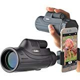 Gosky Pioneer 10X42 Monocular Smartphone Adapter Kit -for Birding Travelling Wildlife Secenery Concerts