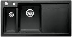 Preisvergleich Produktbild Blanco Axon II 6 S Schwarz Einbau Keramikspüle Küchen-Spüle Spülbecken Auflage