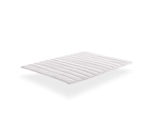 THE WISE FROG - MATTRESS TOPPER, COTTON BIO. Luxury 5cm Extra Soft Topper, Breathable 100% 3D (140 x 200 cm)