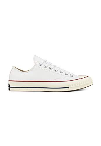 Converse Unisex-Erwachsene Taylor Chuck 70 Ox Sneakers, Mehrfarbig (White/Garnet/Egret 102), 45 EU Low Top Chuck