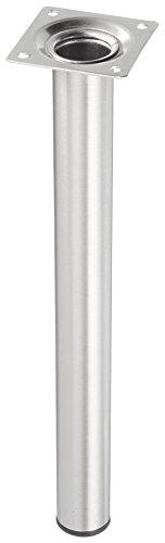 Element System 11100-00173 - Patas de tubo para muebles (4 unidades, placa de atornillado incluida, 30 cm, diámetro 30 mm, aspecto de acero inoxidable)