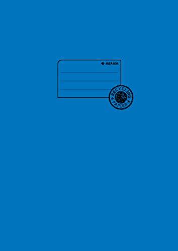 Herma 5533 Papier Heftumschlag DIN A4 aus 100% Altpapier, blau, 1 Heftschoner für Schulhefte
