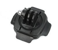 Goliton 360 Grad Helmhalterung Helmhalter für GOPRO HERO 1/2/3/3+/4/5/4 Session/5 Session und XiaoYI Xiaomi - Schwarz