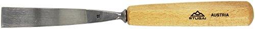 Stubai 551220 Couteau à sculpteur avec Manche en Bois, Gris/Beige, 20 mm