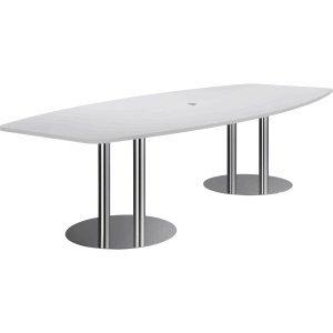Konferenztisch mit Säulenfüßen 280x130/78cm grau
