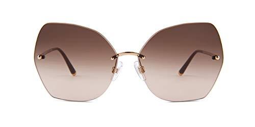 1128182be8367 Dolce   Gabbana Sonnenbrillen Lucia DG 2204 Gold Brown Shaded Damenbrillen
