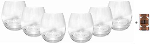 Remy Martin Tumbler Cognac Glas Gläserset - 6x Tumbler + Goldberg Intense Ginger 0,15l EINWEG