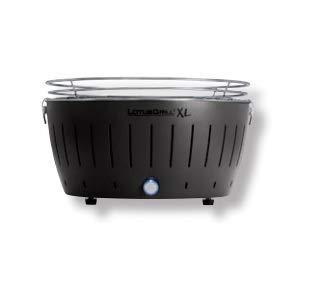 LotusGrill XL LG G435 U Barbecue con batterie e cavo di alimentazione USB, 43,5 x 25,7 cm, Nero
