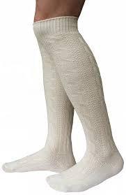 LANGE Trachtensocken Trachten Strümpfe für lederhosen Socken Natur, Größe:44-46 - 2