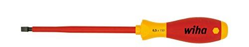 Preisvergleich Produktbild Wiha Schraubendreher SoftFinish® electric Schlitz (00820) 2,5 mm x 75 mm  VDE geprüft, stückgeprüft, ergonomischer Griff für kraftvolles Drehen, Allrounder für Elektriker
