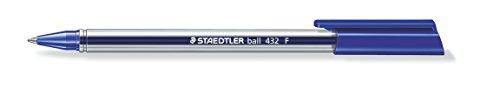 Staedtler 432 F-3 office colours Kugelschreiber Linienbreite F, 0.3 mm, 10 Stück im Kartonetui, blau