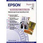 Epson C13S041352 Matte papier Aquarell inkjet 190g/m2 A3+ 20 Blatt Pack