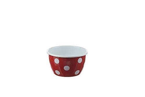 munder-emaille-salatschussel-schussel-schalchen-oe-14-cm-farbe-rot-mit-weissen-tupfen