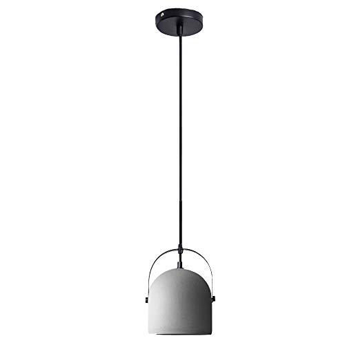 ♪ Zement-Leuchter Retro Beton Deckenleuchte LOFT Schmiedeeisen LED Licht Kreative Persönlichkeit Granit Transluzent Warmlicht Innenbeleuchtung Restaurant Schlafzimmer Wohnzimmer Nachttischlampe, Cemen - Granit-pendelleuchte
