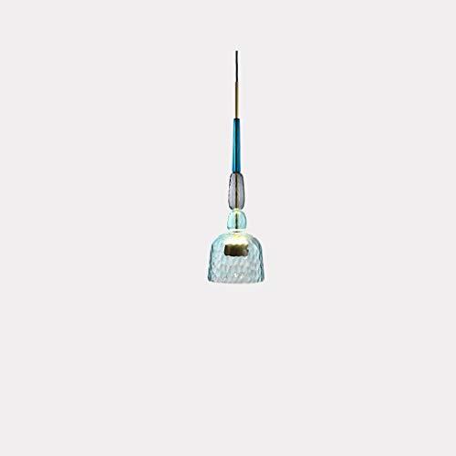 Droplight Nordic Retro Industriestil Pendelleuchte Modernes Minimalistisches Restaurant Schlafzimmer Nachttischlampe Bar Form Kopf Glas Pendelleuchten Blauer Lampenschirm