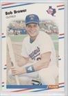 1988 Fleer # 461 Bob Brower Texas Rangers Baseball Card