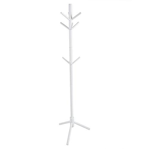 Yosoo 176cm Percheros de Estilo de Árbol con 9 Ganchos Percha de Madera Soporte de Sombrero Bolso Ropa Prenda Bufanda para Decoración de Casa (Blanco)