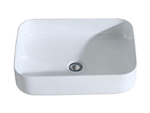 Eridanus serie keiko, lavabo di ceramica bianco lusso lavandino lavello lavamano lavabo da appoggio rettangolare quadrato bacinella lavandino lavello per bagno casa bidet lavabo
