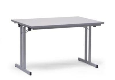 Klapptisch, mit extra starker Platte - Höhe 720 mm - 1200 x 800 mm, Gestell lichtgrau, Platte lichtgrau - Klapptisch Konferenztisch Mehrzwecktisch