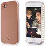iPhone Selfie Handy Fall, lntech Wiederaufladbare LED-Licht bis Flash Beleuchtung Selfie Fall beleuchtet, iPhone5/5S/SE, Rose Gold