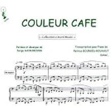 Partition : Couleur café - Piano et paroles