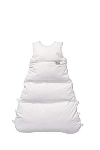 ARO Artländer Daunenschlafsack Exclusiv/Winterschlafsack längenverstellbar/Baby-Schlafsack mit Premiumdaunen/Kinderschlafsack waschbar, Größe:110 (100/90), Design:Honigwabe